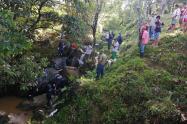Emergencias por las lluvias en Antioquia.