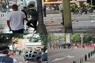 Disturbios en Medellín.