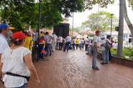 Concentración Parque El Poblado de Medellín.