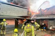 En la conflagración no se presentaron personas lesionadas, informaron las autoridades