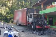 os conductores del automotor, al parecer, fueron extorsionados y hurtados, informó la Fiscalía General de la Nación.