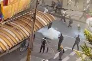 Recientes disturbios por las marchas en Medellín.