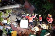 Lugar del deslizamiento en Medellín.