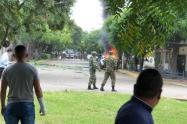Acción terrorista contra Brigada Treinta del Ejército