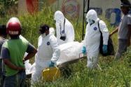 Las autoridades investigan si hacen parte del cadáver hallado dentro de una bolsa, 24  horas antes cerca de este lugar.