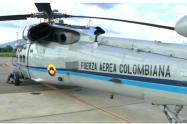 Helicóptero en el que viajaba Duque