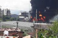 Incendio en empresa de Girardota, Antioquia.
