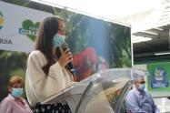 Directora de Corantioquia, Ana Ligia Mora, durante la presentación de Distinción Vida.