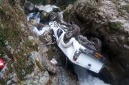 Dos personas muertas y dos más heridas, dejó terrible accidente en Cocorná, Antioquia