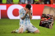 argentina futbol: domiciliario en celebración