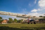 En Medellín se construyó el primer avión eléctrico del país