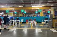 Punto de Vacunación de Cafam en Bogotá.