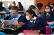 Las instituciones educativas han sido dotadas  de elementos de bioseguridad, informó la Gobernación.