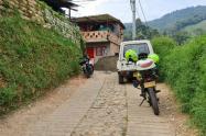 Vivienda donde fue asesinado padre de familia e hijo en la Estrella, Antioquia
