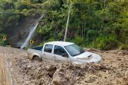 Lugar del derrumbe en Ituango, Antioquia.
