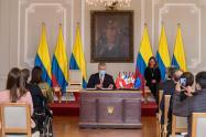 El presidente Iván Duque, sancionó y divulgó una serie de leyes relacionadas con tratados internacionales