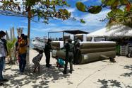 Labores de esparcimiento con la población migrante en Necoclí