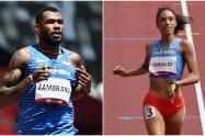 Anthony Zambrano y Melissa González, atletas colombianos