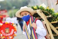 Desfile de Silleteritos en la Feria de las Flores en Medellín.