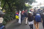 Marchas del 7 de agosto en Medellín.