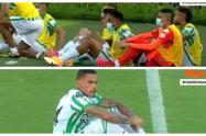 Protesta de los jugadores de Atlético Nacional