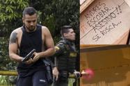 Andrés Escobar, el civil armado de la polémica, borró graffiti donde lo llaman 'asesino'
