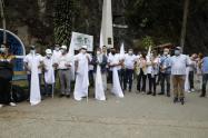 Acto simbólico en Caicedo, Antioquia.