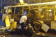 Explosión de bus en Rusia