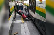 Esta accidente de tránsito se presentó en la comuna 16 de la capital antioqueña, informaron las autoridades.