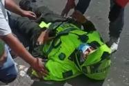 Policía herido en asalto