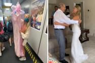 Novia viajó más de 1.200 kilómetros para bailar con su abuelo, quien no pudo asistir a su boda