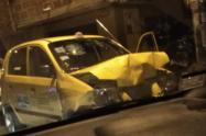 Policías arrollados por delincuentes que hurtaron un taxi en la comuna 13