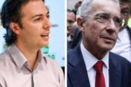 Alcalde de Medellín, Daniel Quintero, y expresidente Álvaro Uribe.