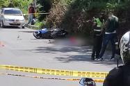 Asesinan a motociclista en la Loma de los Bernal en Medellín