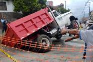 El incidente vial no dejó personas lesionadas.