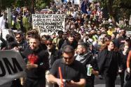 Protestas en Melbourne contra el confinamiento
