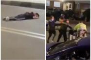 Patrullero arrolló a un niño y luego se fue a los golpes con los padres del menor