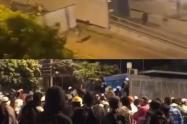 Disturbios al término de las movilizaciones en Medellín.