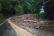 Las fuertes precipitaciones han generado el cierre de otras vías del departamento.