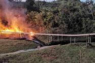 El ELN se atribuyó atentados ocurridos contra Ecopetrol en Santander