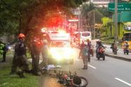 Motociclista chocó contra un separador y murió en el occidente de Medellín