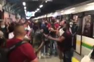 [Video] A empujones y patadas, así se ingresa a los vagones del Metro de Medellín