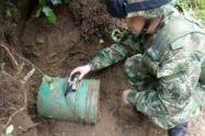 Se adelantan las investigaciones para establecer que grupo armado instaló este material detonante.