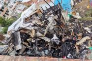 Con baldes de agua apagaron incendio en un barrio de Bello
