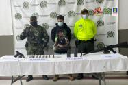 Se adelantan las investigaciones para establecer a qué grupo ilegal pertenecen las armas de fuego.