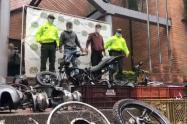 Cada mes desguazaban 36 motos robadas en un taller del centro de Medellín