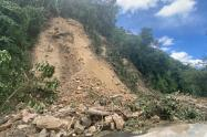 Derrumbe en San Luis, Antioquia.