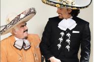 Vicente Fernández y su nieto Álex Fernández