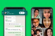 Notificación para entrar a una videollamada en WhatsApp