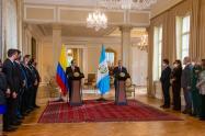 Presidente de Guatemala,  Alejandro Giammattei y el presidente de Colombia, Iván Duque